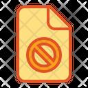 Deny Denied Document Icon
