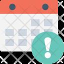 Calendar Error Exclamation Icon