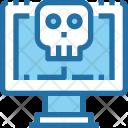 Computer Error Skull Icon