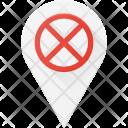 Error Pin Geolocation Icon