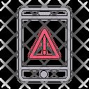 Error Warning Mobile Icon