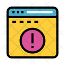 Error Exclamation Webpage Icon