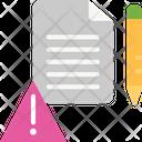 Error Log Alert Error Icon