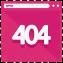 Error Webpage 404 Icon