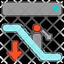 Escalator Down Ladder Icon