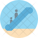 Escalator Moving Stairs Upstairs Icon