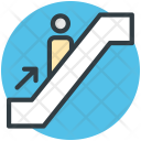 Escalator Moving Stairs Icon