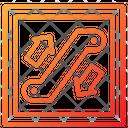 Escalator Facility Railway Icon