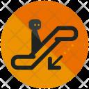 Downwards Escalator Icon