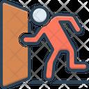 Escape Exit Evacuation Icon