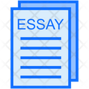 Essay Writing Education Icon