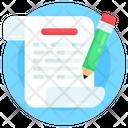 Writing Article Writing Writing Sheet Icon