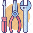 Essential Tool Kit Screwdriver Wrench Icon