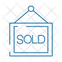 Sold Signboard House Icon