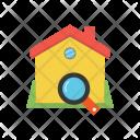 Hut Search Estate Icon