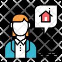 Estate Agent Broker Icon