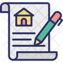 Estate Agreement House Contract Property Contract Icon