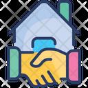 Estate Agreement Handshake Deal Icon