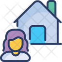 Real Estate Support Agent Property Icon