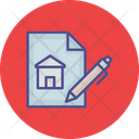 Estate Contract Home Loan Application Mortgage Papers Icon