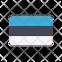 Estonia Flag Country Icon
