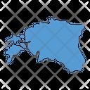 Estonia Map Icon
