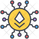 Blockchain Cryptocurrency Ethereum Icon