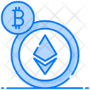 Ethereum Bitcoin Cryptocurrency Icon