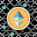 Ethereum Cryptocurrency Digital Icon