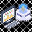 Digital Money Ethereum Graph Ethereum Analytics Icon
