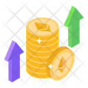 Ethereum Growth Currency Growth Economic Growth Icon