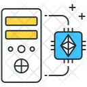 Ethereum Mining Ethereum Chip Cpu Icon