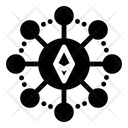 Ethereum Connections Ethereum Nodes Ethereum Network Icon