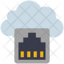 Cloud Computing Ethernet Icon