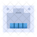 Ethernet Cable Socket Connection Icon