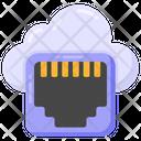 Cloud Port Ethernet Cloud Cloud Network Port Icon