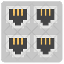 Ethernet Exchange Metro Network Network Port Icon