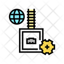 Electrical Fuse Color Icon