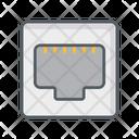 Ethernet Port Jack Connector Icon