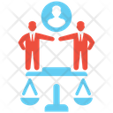 Business Legal Judgment Judge Law Icon