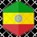 Ethiopia Flag Hexagon Icon
