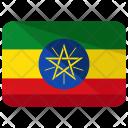 Ethiopia Flag Country Icon
