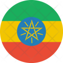 Ethiopia Flag World Icon