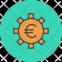 Euro Settings Banking Icon