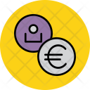 Euro User Employee Icon