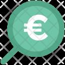 Euro Search Glass Icon