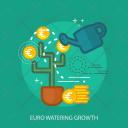 Euro Watering Growth Icon