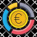 Euro Coin Graph Icon