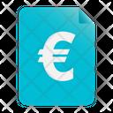Euro Euro Document Money Icon