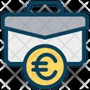 Euro Bag Briefcase Icon